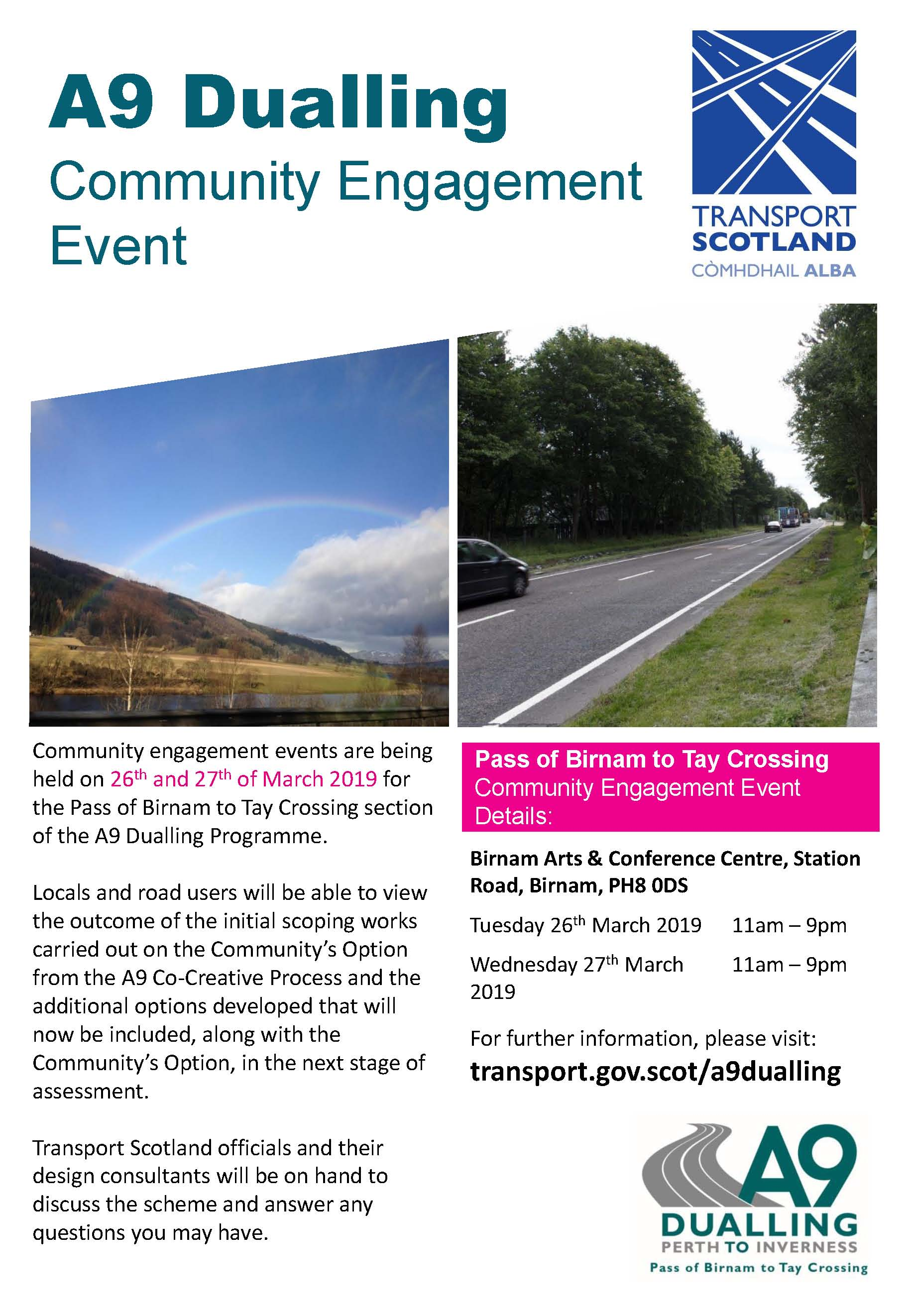 A9 Dualling Community Engagement Event 2627 March